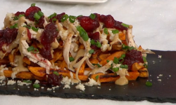 Adria Wu's sweet potato poutine on Sunday Brunch