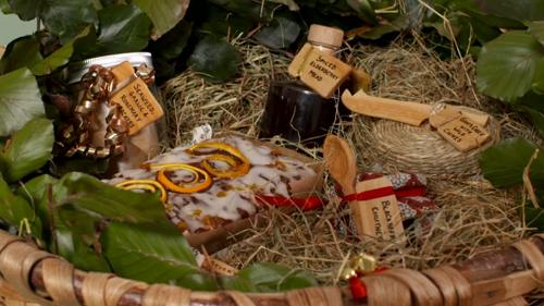 Tiffany's winning winter harvest hamper on Kirstie's Handmade Christmas