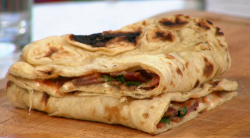 Pritesh Mody bacon naan with chilli jam on Sunday Brunch