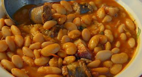 Danielle's savoury figatelli and beans stew on The Bikers' Mediterranean Adventure