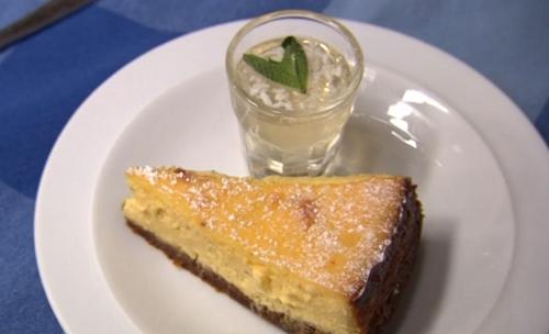 James Strawbridge kernow cheesecake with mojito glaze on The Hungry Sailors