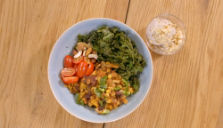 Stacy Stewart's vegan chili beans with vegetables for the nutritarian diet on How to Lose  ...