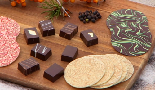 Charlotte Flower's chocolate ganache with juniper berries on Countryfile