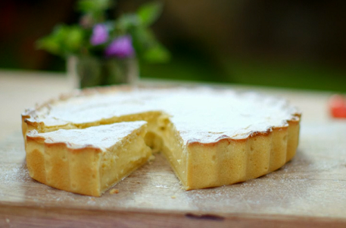The hairy bikers'  torta menjar blanc pie