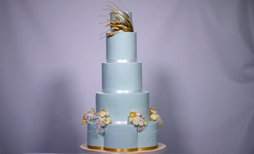 Christine's five tier Duchess of Cornwall cake Extreme Cake Makers