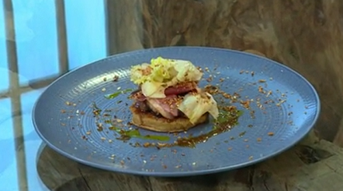 Ryan and Liam's duck and crumpets dish on Saturday kitchen