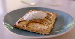 Tom Kerridge French apple tart with zero fat  Greek yoghurt on Tom Kerridge's Lose Weight For Good