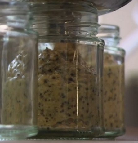 Ivan and James Strawbridge homemade mustard using a Roman recipe on The Hungry Sailors