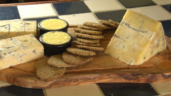 James Strawbridge blue cheese with homemade oatcakes on The Hungry sailors
