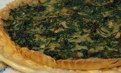 Danielle's Corsican Swiss chard and onion tart on the Hairy Bikers' Mediterranean Ad ...
