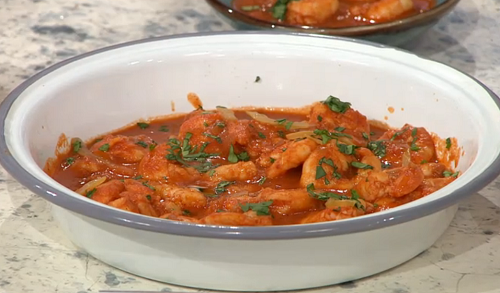 John Gregory-Smith's Moroccan  prawns with preserved lemon and ginger on Sunday Brunch