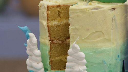 Rav's frozen fantasy cake on The Great British Bake Off