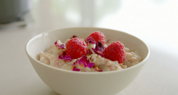 Tom Kerridge's rice pudding with raspberries  on Lose Weight For Good