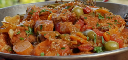 The Hairy Bikers' veal and olive stew recipe