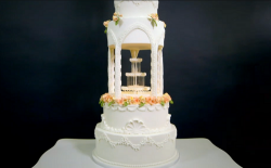 Karisha's water fountain cake on Extreme Cake Makers