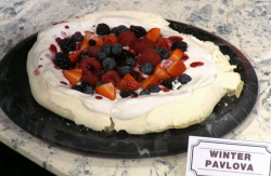 Big Bosh winter pavlova on Sunday Brunch