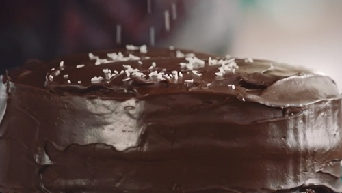 Ainsley Harriott's chocolate cherry cake from the advert