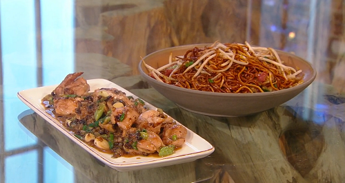 Ken Hom chicken in black bean sauce on Saturday Kitchen