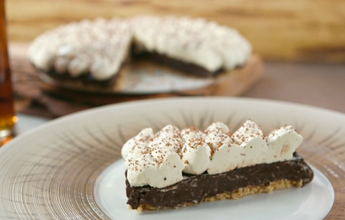 James Martin chocolate cream pie on James Martin's American Adventure