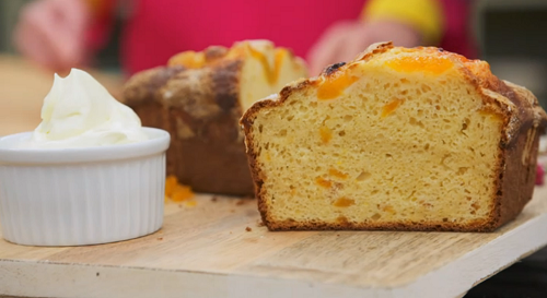 Tim Minchin apricot loaf cake on The Great Celebrity Bake Off Stand Up to Cancer