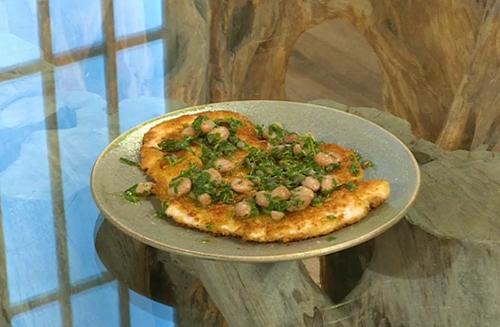 Ben Tish chicken Milanese with beans and salsa verde on Saturday Kitchen
