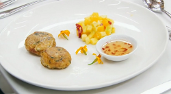 Zaleha's Masterchef  fish cutlets with mango and sweet chilli sauce