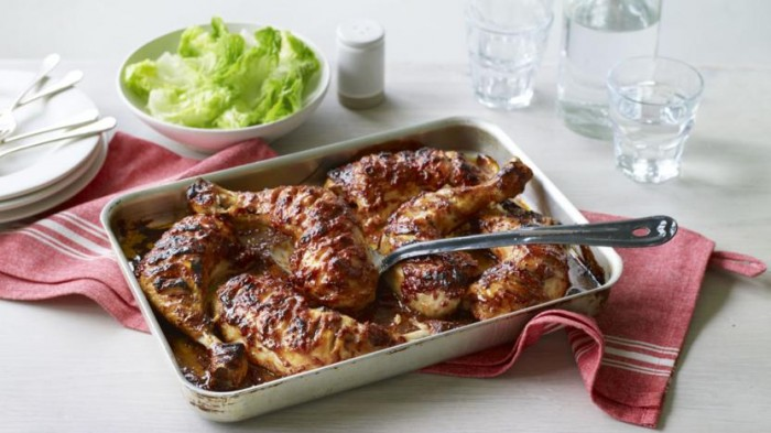 Mary Berry sticky chicken with honey and mustard