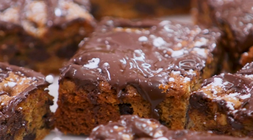 Melanie Sykes peanut butter blondies on The Great Celebrity Bake Off Stand Up to Cancer