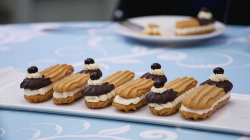 Prue Leith tiramisu sandwich biscuits on The Great Celebrity Bake Off Stand Up to Cancer