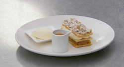 David's apple crumble  mille feuille dessert on Masterchef 2018