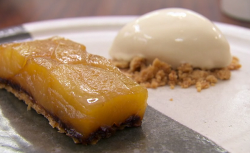Tommy Banks black apple tart with sourdough bread ice cream made by David on Masterchef 2018