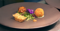 Moonira's Indian medley of chicken starter on  MasterChef UK 2018