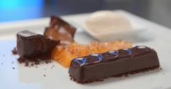 David's chocolate mousse bars with Greek yoghurt ice cream dessert inspired by the George  ...