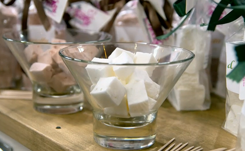 Gillian' gin and tonic marshmallows on Top of the Shop with Tom Kerridge
