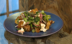 Samin Nosrat's Springtime panzanella with asparagus and mint on Saturday Kitchen