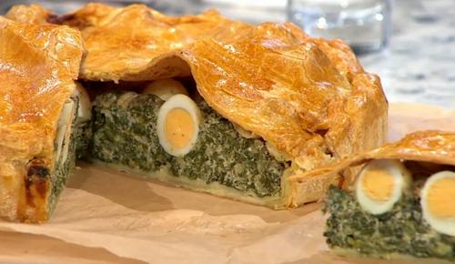 Rebecca Seal  torta pasqualina pie on Sunday Brunch