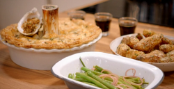 Pippa' beef shin with stout and oyster pie on Britain's Best Home Cook