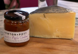 Best Cheese in the world with tomato and apple chutney on Sunday Brunch