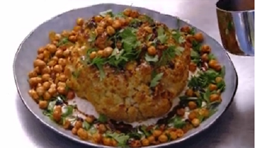 Mat Preston's Whole Baked Cauliflower with Almond Tarator on MasterChef Australia 2018