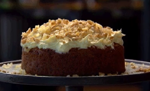 Nigella's Ginger and Walnut Carrot Cake on MasterChef Australia 2018 Masterclass