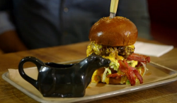 Lateef Okunnu's cheese burger on Tricks of the Restaurant Trade