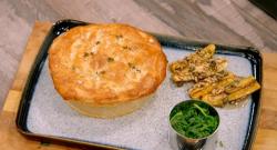 Tobi' chicken gizzard and plantain pie on Britain's Best Home Cook