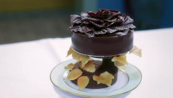 Feuille d'automne gateau for the secret recipe challenge on Bake Off: The Professionals