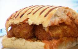 Max Halley' fish finger sandwich on Sunday Brunch