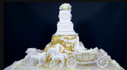 Rosie's Royal Horse Drawn Carriage cake on Extreme Cake Makers