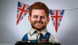 Prince Harry Caricature cake  for the Cheshire Polo club made by Ben on Extreme Cake Makers