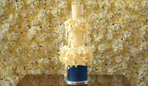 Nastassja's Regal Ribbon Wedding Cake on Extreme Cake Makers
