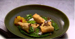 Gary Mehigan's samosas with coriander chutney on MasterChef Australia 2018