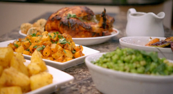 Dipa's spiced roast chicken with Bombay potatoes on Britain's Best Home Cook