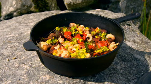 Tilly and her dad's wild rabbit and crayfish stew on Matilda and The Ramsay Bunch
